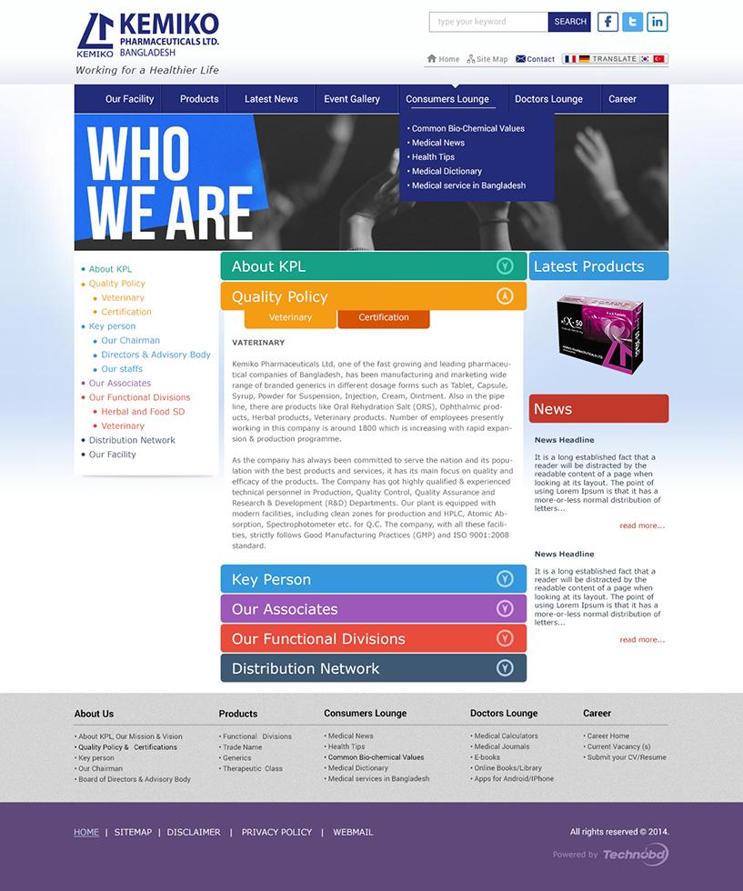 Kemiko Pharmaceuticals Limited